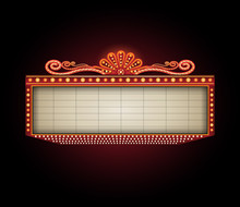 Theater Sign Billboard Frame D...