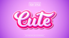 3D Cute Modern Editable Text E...