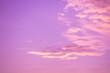 Leinwandbild Motiv Pink cloudy sky at sunset. Sky texture, abstract nature background