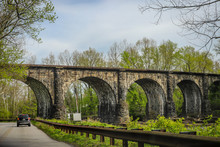 Thomas Viaduct, A Historic Arch Bridge Built Between July 4, 1833, And July 4, 1835.