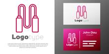Logotype Line Jump Rope Icon I...