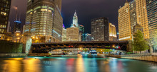 Reflections Of Chicago River C...