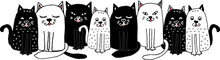 Cute, Funny Black And White Ca...