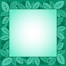 Mint Leaves Green Frame Illustration