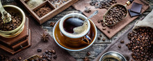 A Cup Of Aromatic Black Coffee...