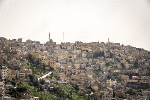 AMMAN, JORDAN - FEBRUARY 15: Streets of Amman the capital city of Jordan, on 15th February 2019 in Amman, Jordan Tapéta, Fotótapéta