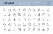 Vector Icon Core Values. Set 5...
