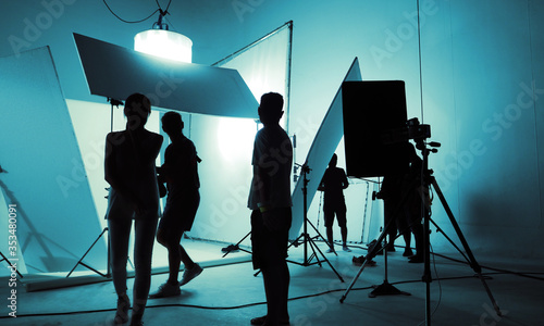 Foto Shooting studio for photographer and creative art director with production crew