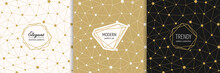 Vector Golden Geometric Seamle...