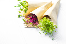 Sprouts Of Radish Sunflower An...