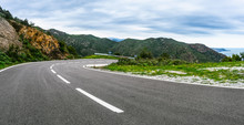 Mediterranean Sea Coast Road I...