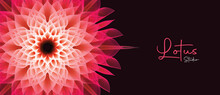 Lotus Yoga Studio Banner 3d Sacred Geometry Flower