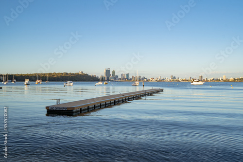 A calm morning at Matilda Bay Reserve, Perth Canvas Print
