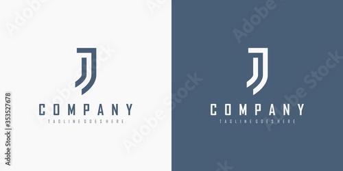 Fotografie, Obraz Initial Letter J Logo