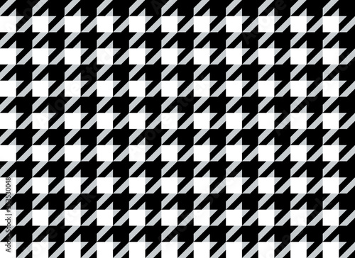 Photo Classic elegant houndstooth textile pattern in black and white
