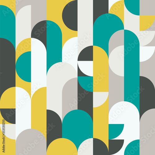 Tapety turkusowe  abstract-retro-style-seamless-vector-pattern-with-geometric-shapes-colored-in-yellow-green-and-grey-modern-geometrical-pattern-for-textiles-fashion-wrapping-paper-wallpaper