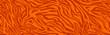 Animal skin print, seamless texture. Tiger fur, orange stripes pattern. Safari repeating background. Vector