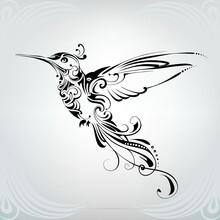 Hummingbird With Vegetation Ornament