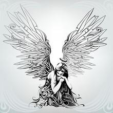 Angel Girl In Ornament