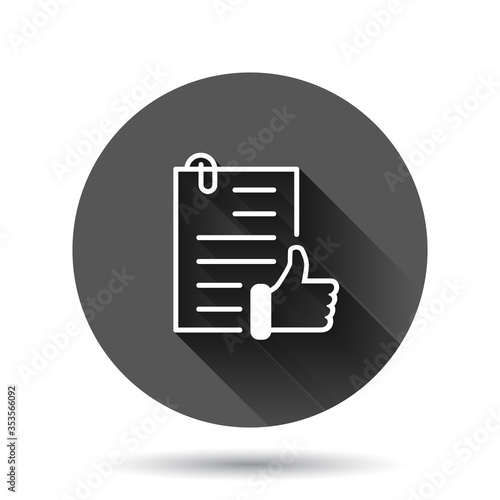Photo Approved document icon in flat style