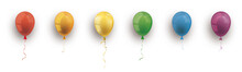 Rainbow Colored Balloons White...