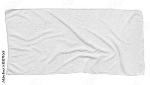 Cuadros en Lienzo White beach towel isolated white background