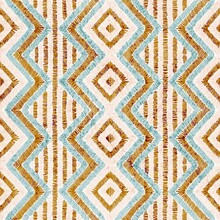 Embroidered Seamless Geometric Pattern. Ornament For The Carpet. Ethnic And Tribal Motifs. Vintage Grunge Texture. Colorful Print Of Handmade. Vector Illustration.