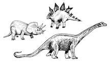 Plant-eating Dinosaurs Set: Tr...