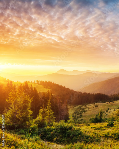 sunset in the mountains #353600007