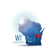 Wisconsin Map With Capital City
