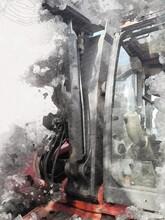 Excavator Tractor Illustration...