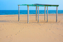 Abandoned Pavilion At The Sand...