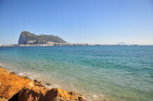 """""""The Rock"""", Gibraltar From La Linea, Panoramic View Spain"""