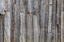 Gray Messy Wooden Planks Wall ...