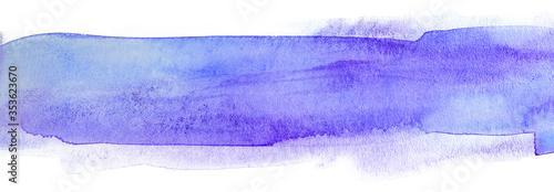 Cuadros en Lienzo watercolor texture background strip blue watercolor