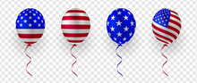 Set Of Balloon With USA Flag V...