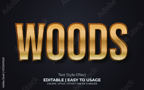 3d Wood Text Style Effect - 353634263