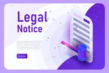 Legal Notice Vector Landing Pa...