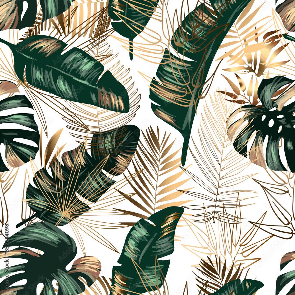 Fototapeta Seamless jungle background