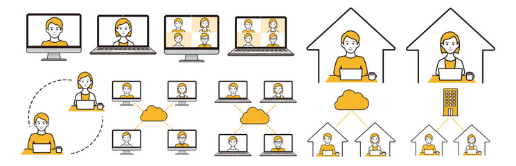 remote work at home icon