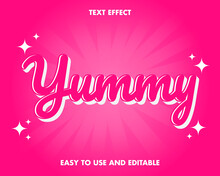 Editable Text Effect - Yummy S...