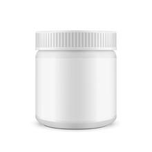 3D White Plastic Canister For Household Chemistry