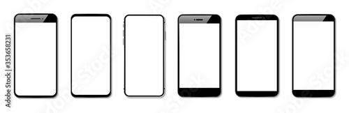 Fotografía Models smartphone with screens vector
