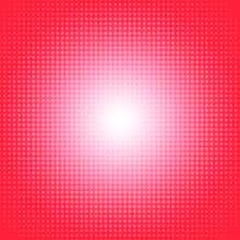 Vector Dot Gradient Living Coral Color Halftone Pattern Abstract Background Concept