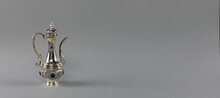 Silver Arabic Teapot Isolated ...