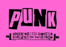 Punk Vector Alphabet Typograph...