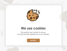 Internet Web Pop Up For Cookie...