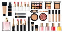 Realistic Cosmetics Make Up Se...
