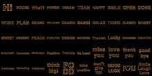 Collection Of Words In Black Background. Illustration.