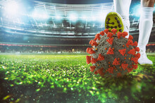 Soccer Player With Virus Ball ...